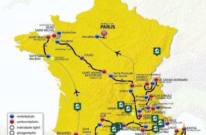 Routeschema Tour de France